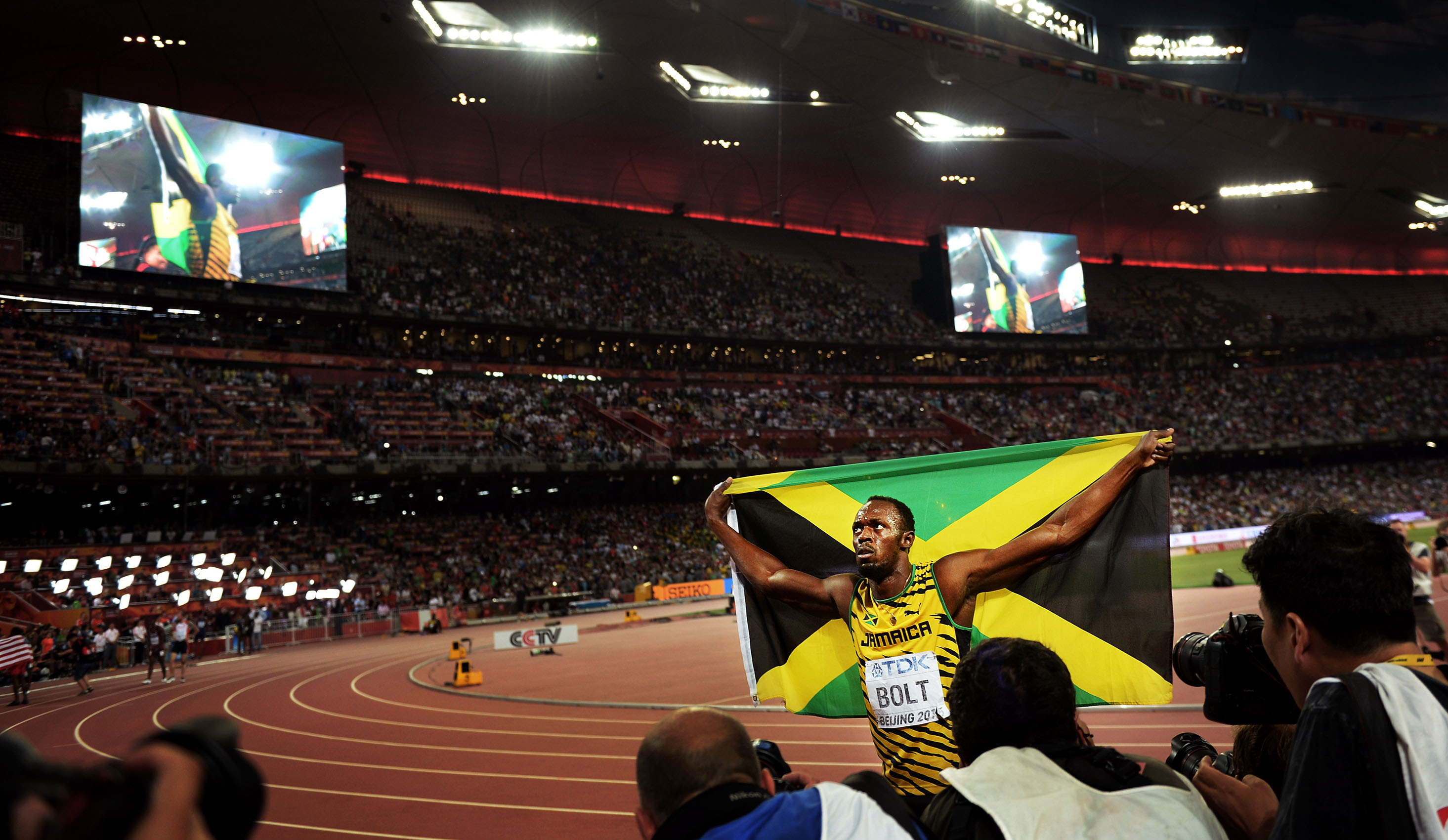 Usain adds the 200m gold to complete the sprint double